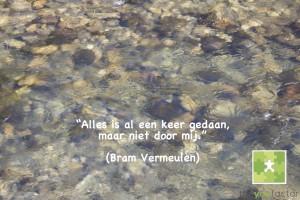 quote Bram Vermeulen: Alles is al een keer gedaan, maar niet door mij.