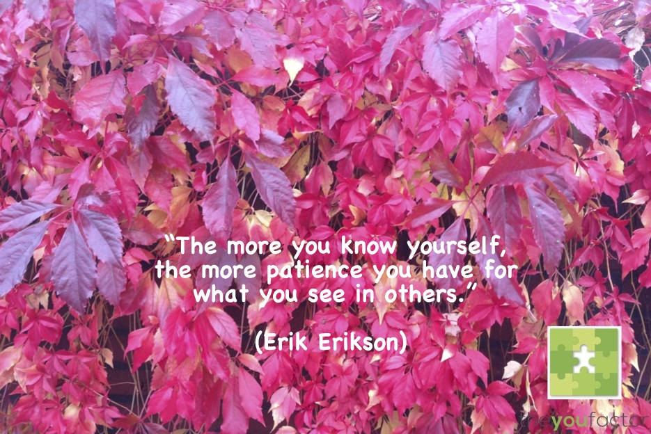 quote Erik Erikson: The more you know yourself, the more patience you have for what you see in others.
