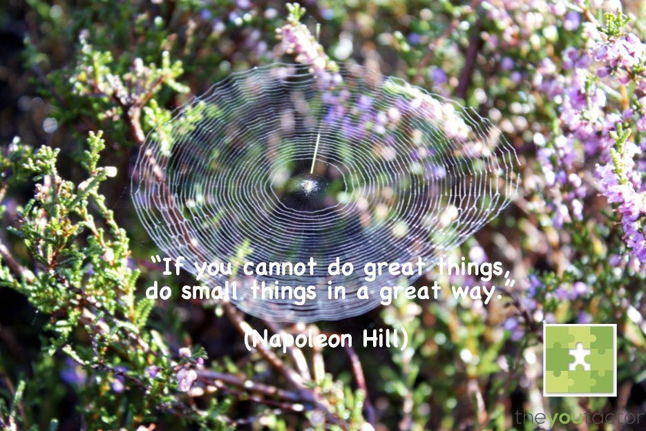 quote Napoleon Hill: If you cannot do great things, do small things in a great way.
