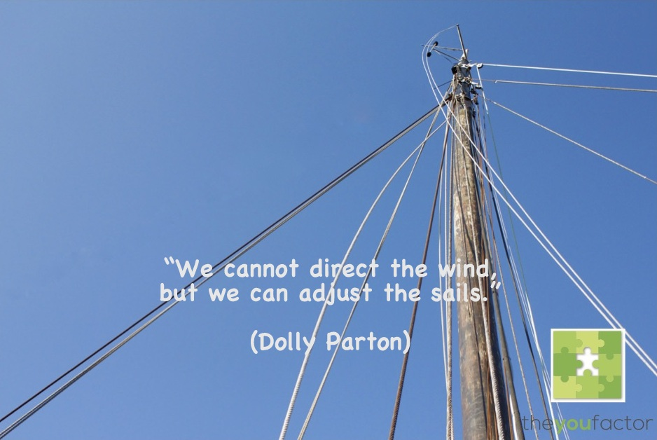 Quote Dolly Parton: We cannot direct the wind, but we can adjust the sails.